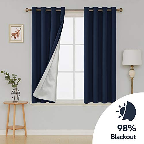 2 Deconovo Blackout Window Curtains