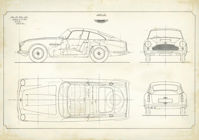 Original tech drawings of DB4…