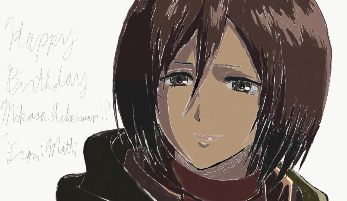 All Drawings of Mikasa for her Birthday are finally done. I think i seriously messed up the final season one T-T but anyways I may be late to finish all of these. But i said happy birthday to her in time!🎈🎉🎁🎊🥳🎂😌 #MikasaAckerman #Mikasa #Attackontitan #AOT #ShingekiNoKyojin
