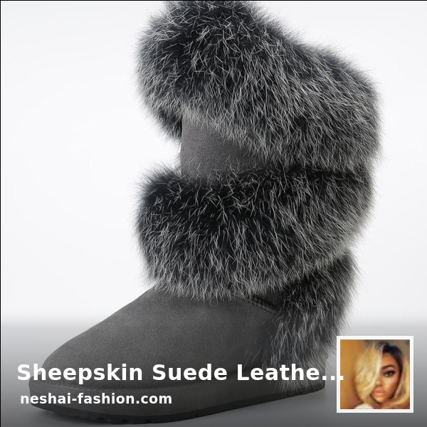Looking for a steal? Sheepskin Suede Leather Wool Fur Lined Winter Shoes Black Grey is now selling at $206.10 USD 💰  Grab it ASAP {PRODUCT_LINK #slay #mua #decor #beauty