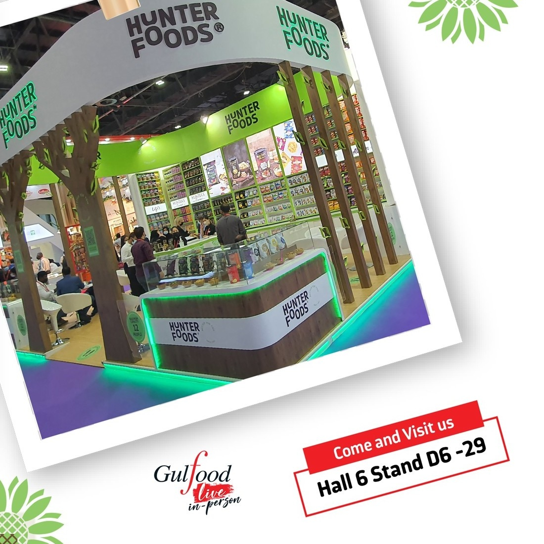 Today is the last day! Come and visit us @Gulfood ! Discover & taste our new adventurous flavours live and in-person in Hall 6 at our stand, D6-29! ⁠ #gulfood #gulfood2021 #hunterfoods #betterforyou⁠ #Dwtc #huntersgourmet #innovation #foodporm #instafood