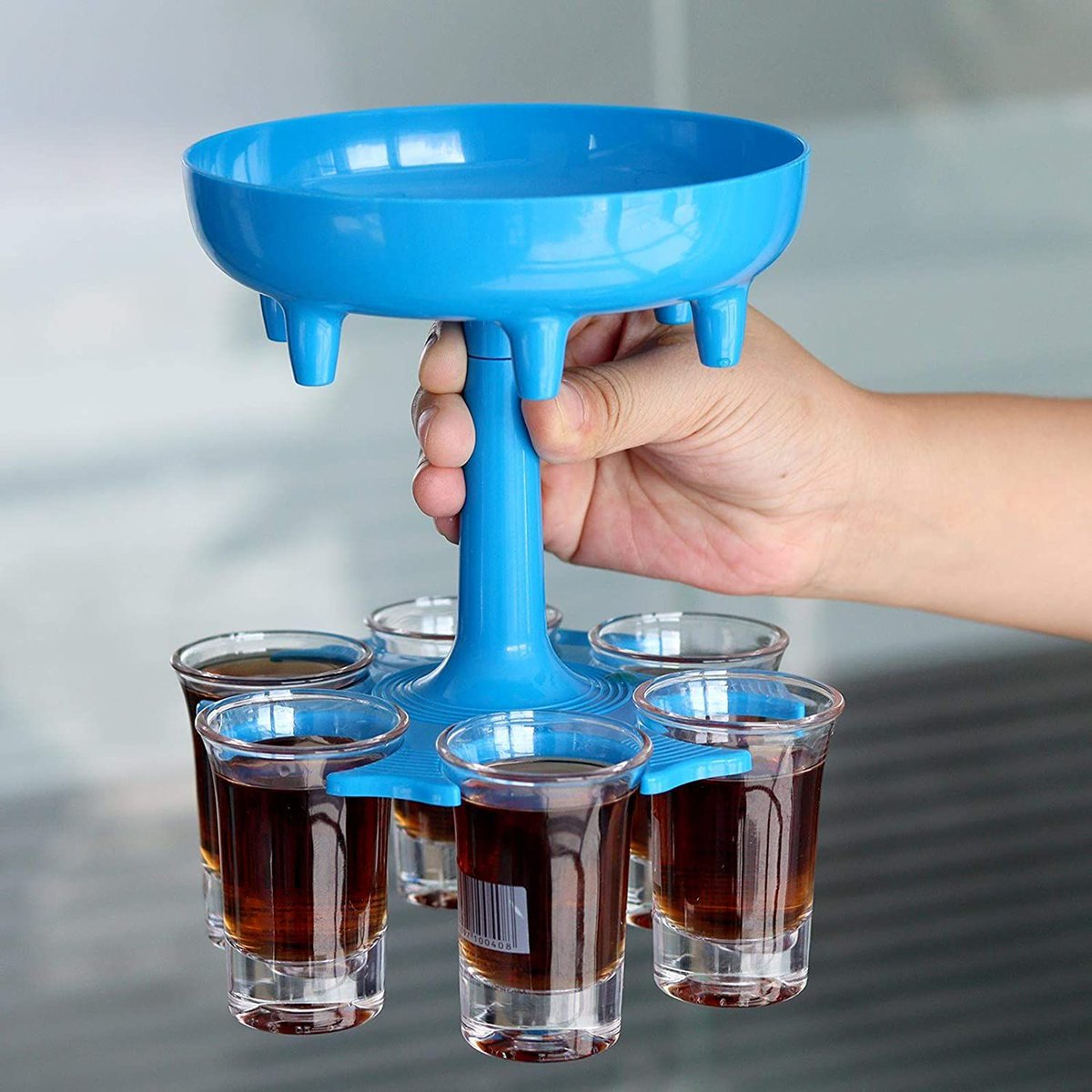 ad: 6 Shot Glass Dispenser and Holder  ONLY $7.99  Link0 Link0