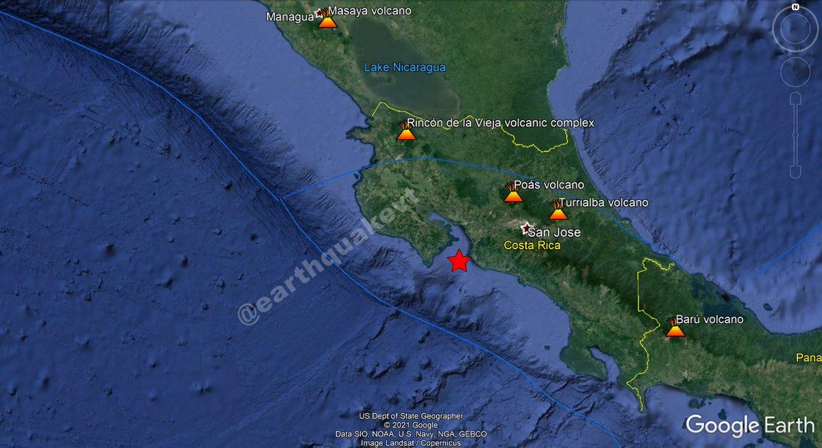 ⚠️#CostaRica🇨🇷: Un sismo leve de magnitud Mw=4.1, se registró a 19 KM al W de #Jacó, provincia de #Puntarenas. Profundidad: 15 KM. Más info:  ¿Sintió este sismo?, ¡cuéntanos!. #EQVT,#earthquake,#quake,#tremor,#seísmo,#sismo,#temblor,#terremoto.