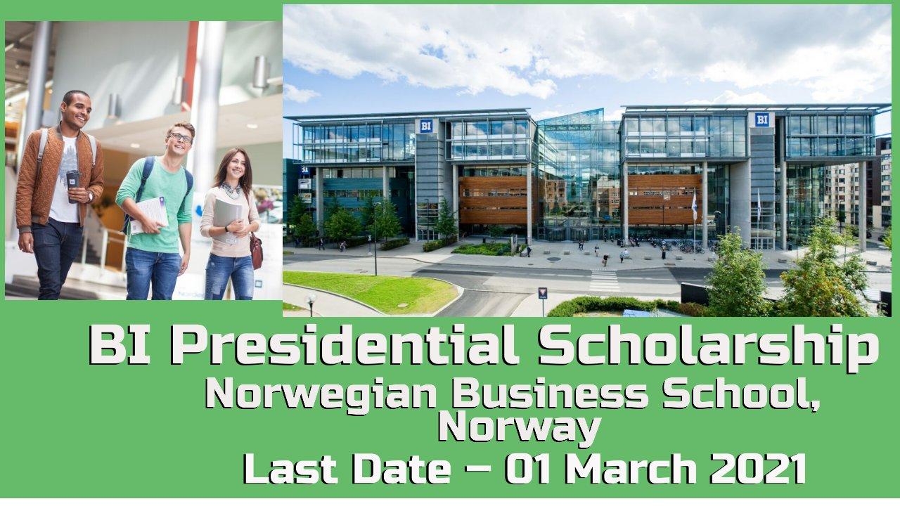BI Presidential Scholarship at Norwegian Business School, Norway