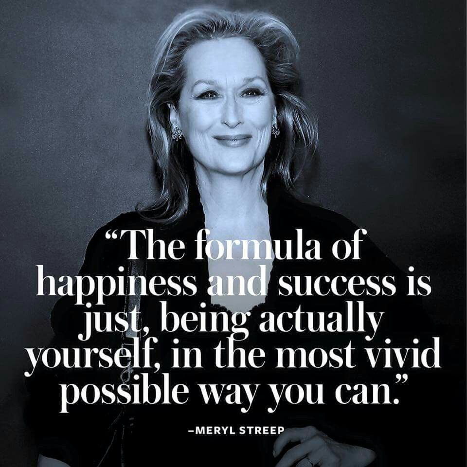 Some beautiful words of wisdom from the queen herself! #ThursdayThoughts #MerylStreep