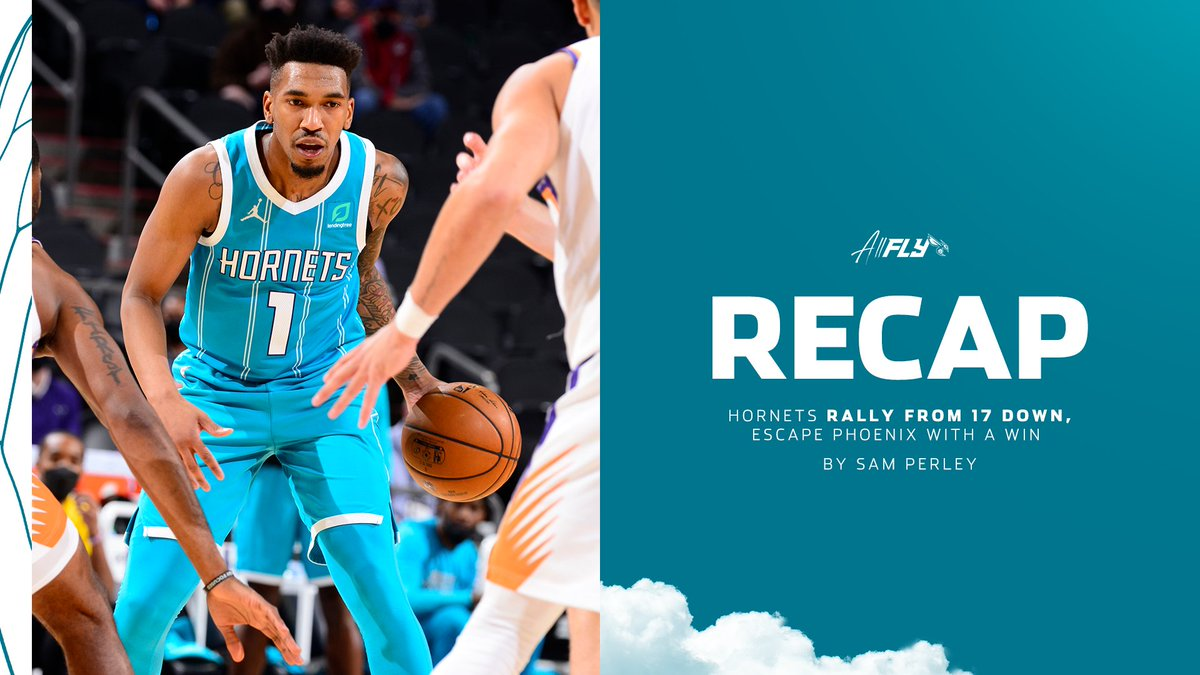 """This has been a microcosm of our season. We look like we're down, defeated, out and we keep finding a way to fight back and compete. This [Hornets] team competes as hard as any team in the league."" - Coach Borrego  Recap from @sam_perley 📝: https://t.co/YhPjazgdv5 https://t.co/WBG4OI8yXx"