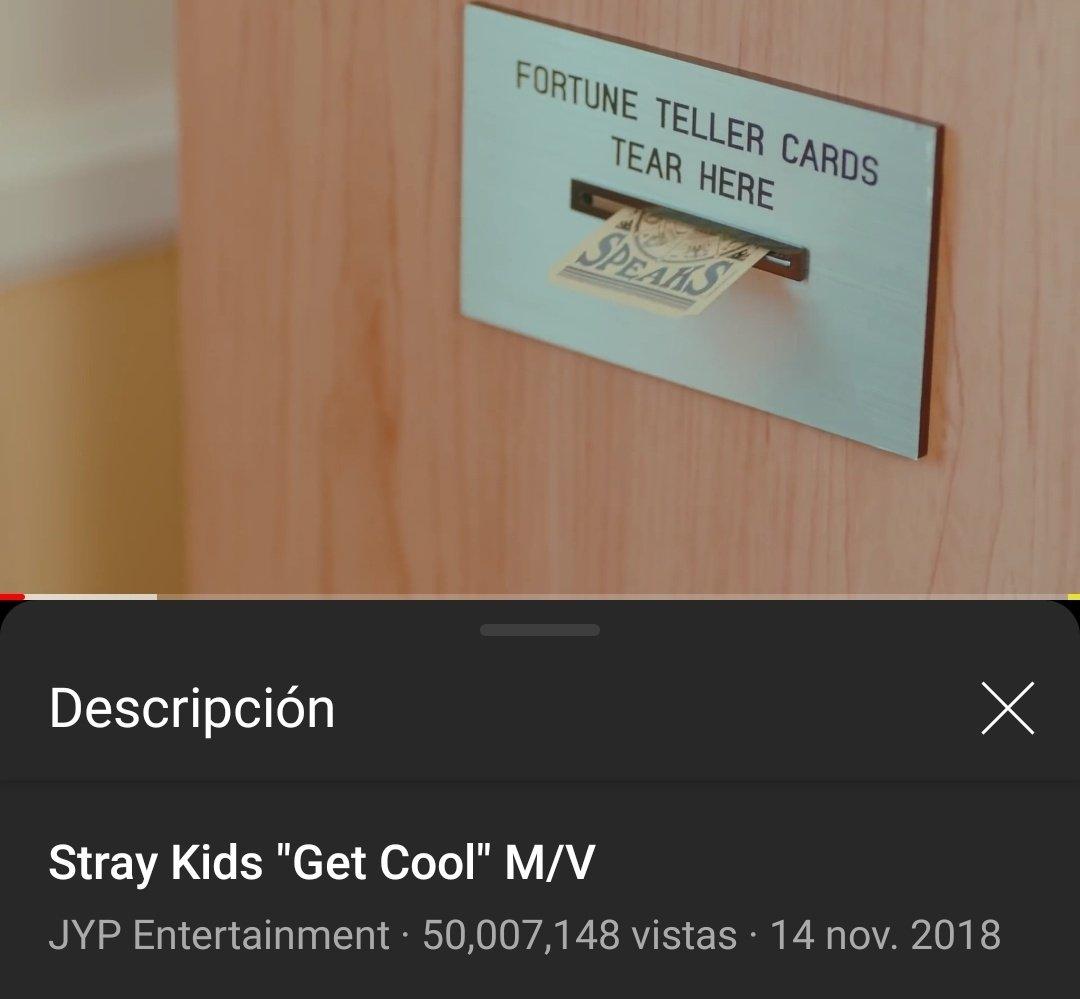 [INFO | 210225] @Stray_Kids  El MV de GET COOL ya cuenta con 50M de vistas en Youtube 🎉🎊  🔗:  #StrayKids #스트레이키즈