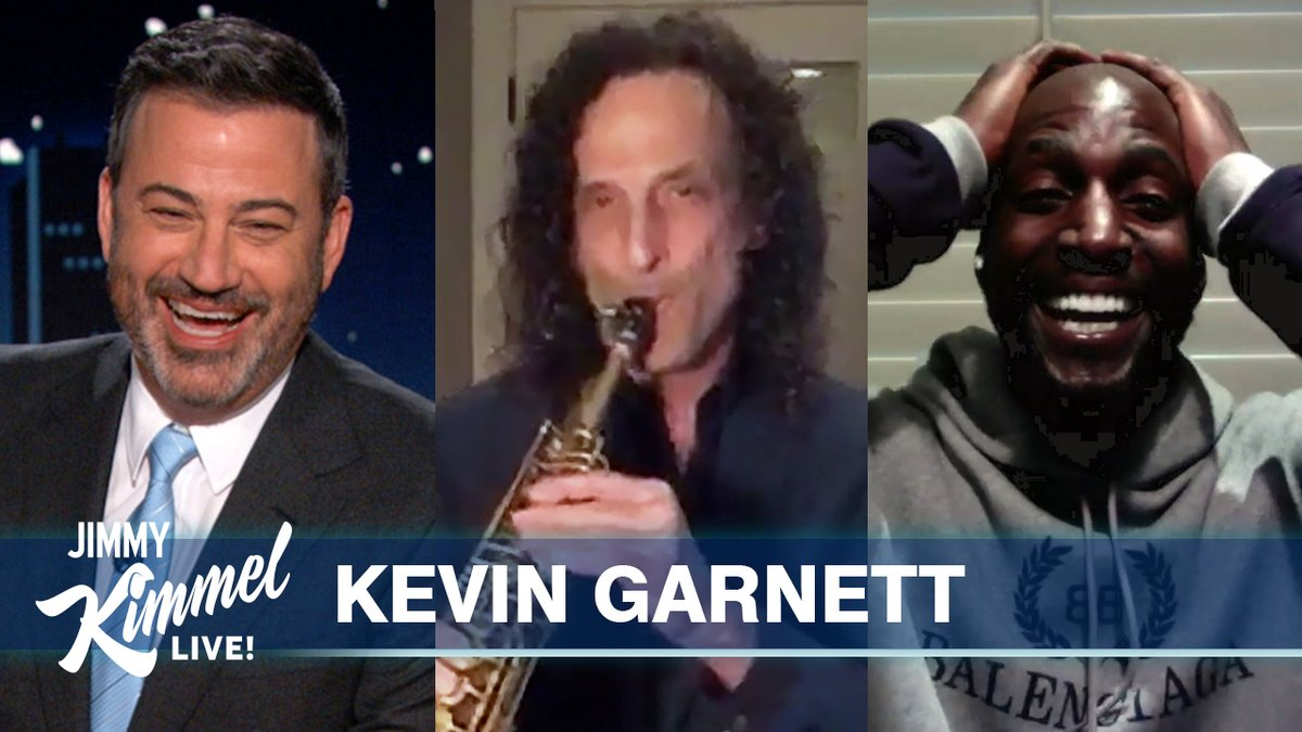 Replying to @JimmyKimmelLive: We surprised @KevinGarnett5KG with @KennyG and it was wonderful! 😍