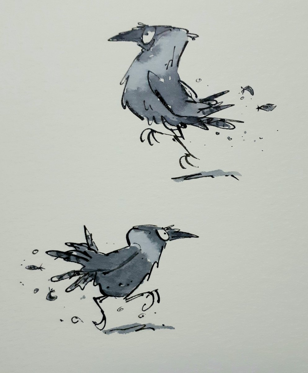 #FlockOfArtists hello... i draw different birds in different ways..tend to like the crow family but all feathered types welcome..