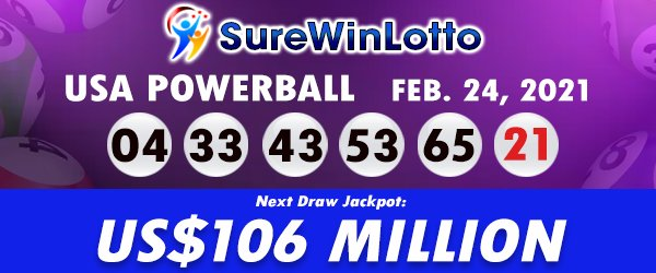 Results of American Powerball for February 24, 2021 Draw https://t.co/wKCO9rJKkd