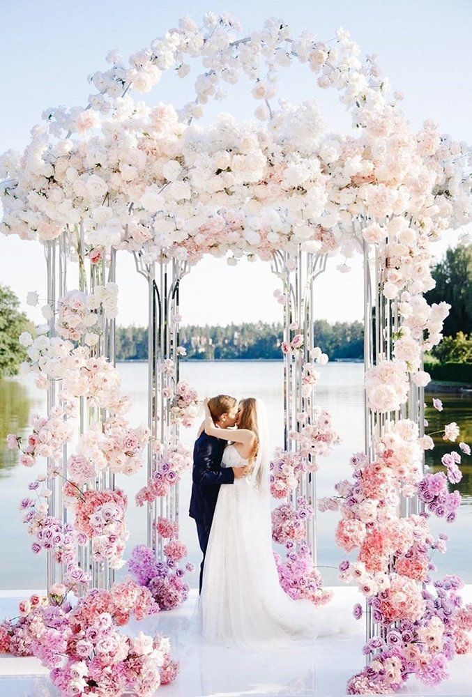 #Shared from Wedding Forward Sep 12, 2019 - In our gallery of wedding arch decoration ideas we have details of flower decor, whole composition and aw...  #Wedding #Decor #Inspiration #Ideas