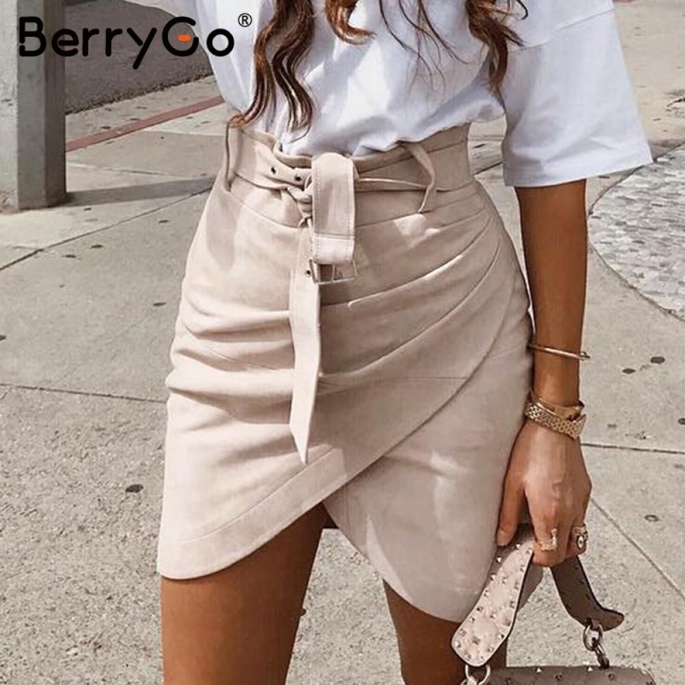 #life #getoutside #amazing Women's High Waist Wrap Suede Skirt
