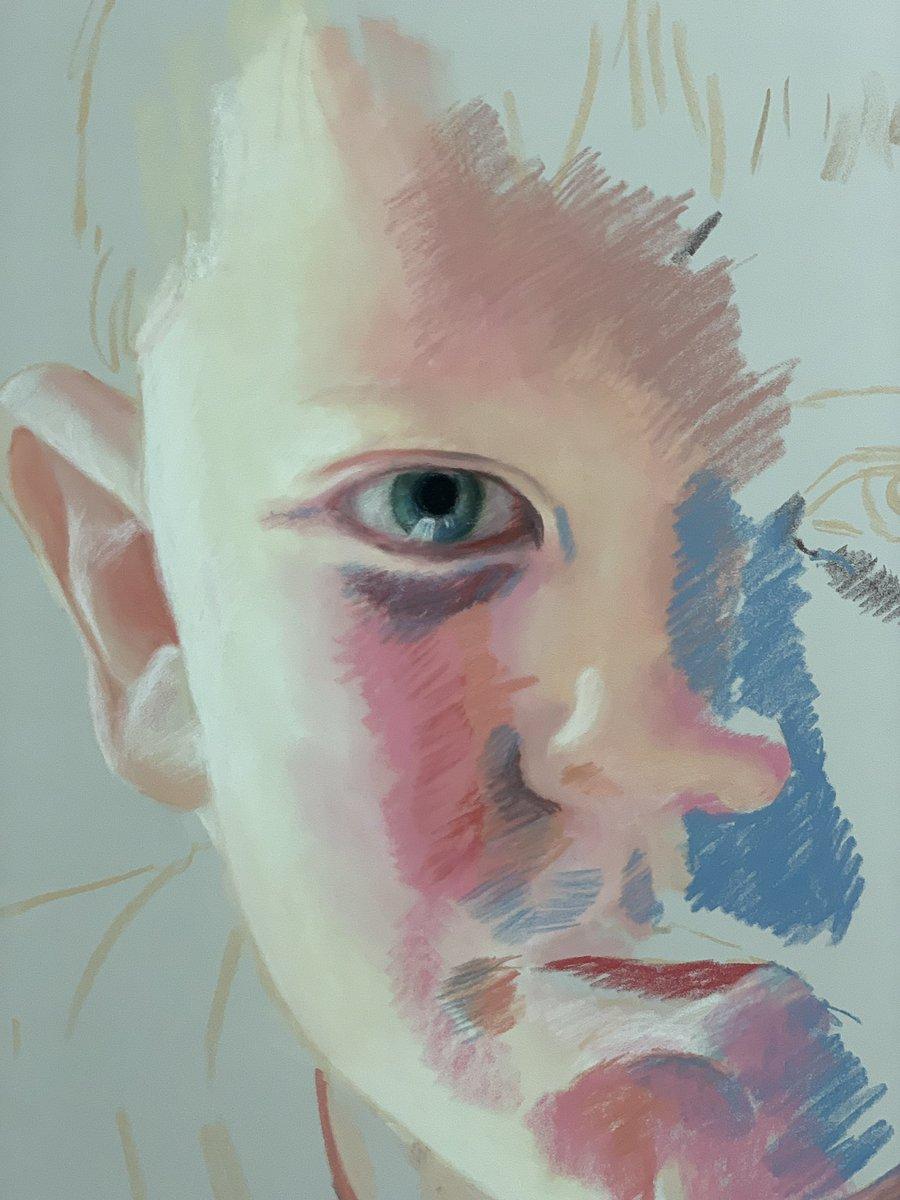 Pastel portrait process, first session #escolafemartbarcelona #projectortrait #pastel #portraitart #instaart #ilustration #creative #artist #tecnicartist #pencilart #pinter #pastelwork #artist #sketch #oil #drawing