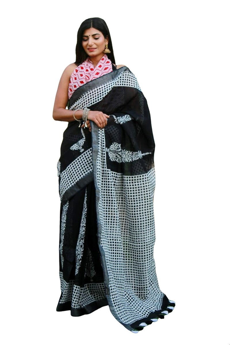Excited to share the latest addition to my #etsy shop: Beautiful Linen Cotton Saree Collection Designer Saree New Pattern Sarees With Blouse Indian Printed Linen Cotton Sarees With Free Shipping  #wedding #valentinesday #no #sari #saree #newsaree