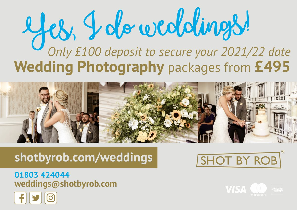 Let me capture your special day.  Wedding photography across Devon and beyond.   Only £100 deposit to secure your 2021/22 wedding date! 📸   DM to find out more.  #wedding #weddings #photographer #Torquay #Torbay #BoostUK
