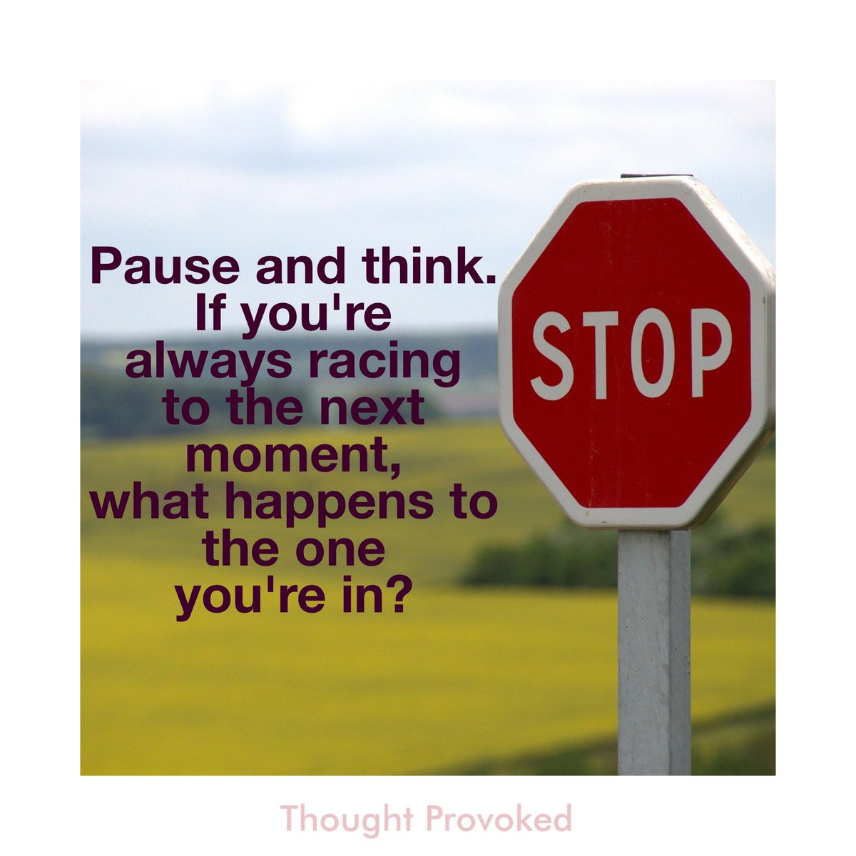 🚦 Pause and think. If you're always racing to the next moment, what happens to the one you're in?  #slowdown #quote #IQRTG #thursdaymorning #quotes #Motivation #MotivationalQuotes