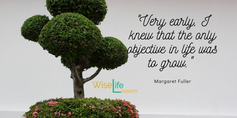 Very early, I knew that the only objective in life was to grow. -Margaret Fuller Via Wise Life Lesson    #quotes #inspiration