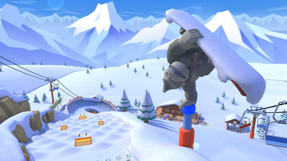 test ツイッターメディア - 新コース「Wii DKスノーボードクロス」  DKキャノンで一気に頂上へ飛び出した先には、コブが並んだエリアや、ヘアピンカーブ、減速してしまう高く積もった雪道など、難所が待ち受ける!  コース内に点在するジャンプ台をうまく使い、華麗にコースを駆け抜けよう!  #マリオカートツアー https://t.co/BLdpZLhUmh