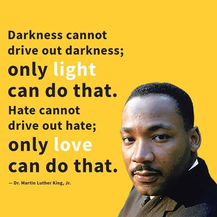 This is God speaking to me through #martinlutherKing Love is certainly stronger than death.