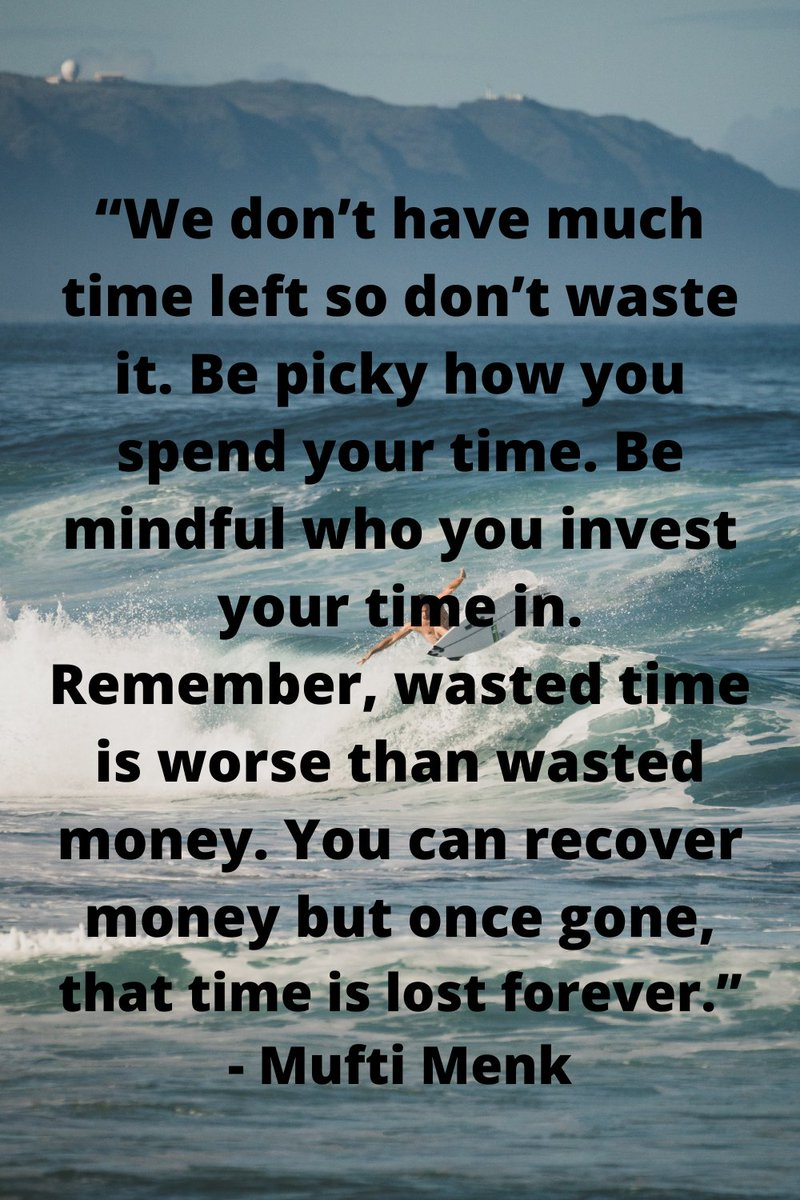 We don't have much time left so don't waste it. Be picky how you spend your time. Be mindful who you invest your time in. Remember, wasted time is worse than wasted money...... Read more #quotes at: