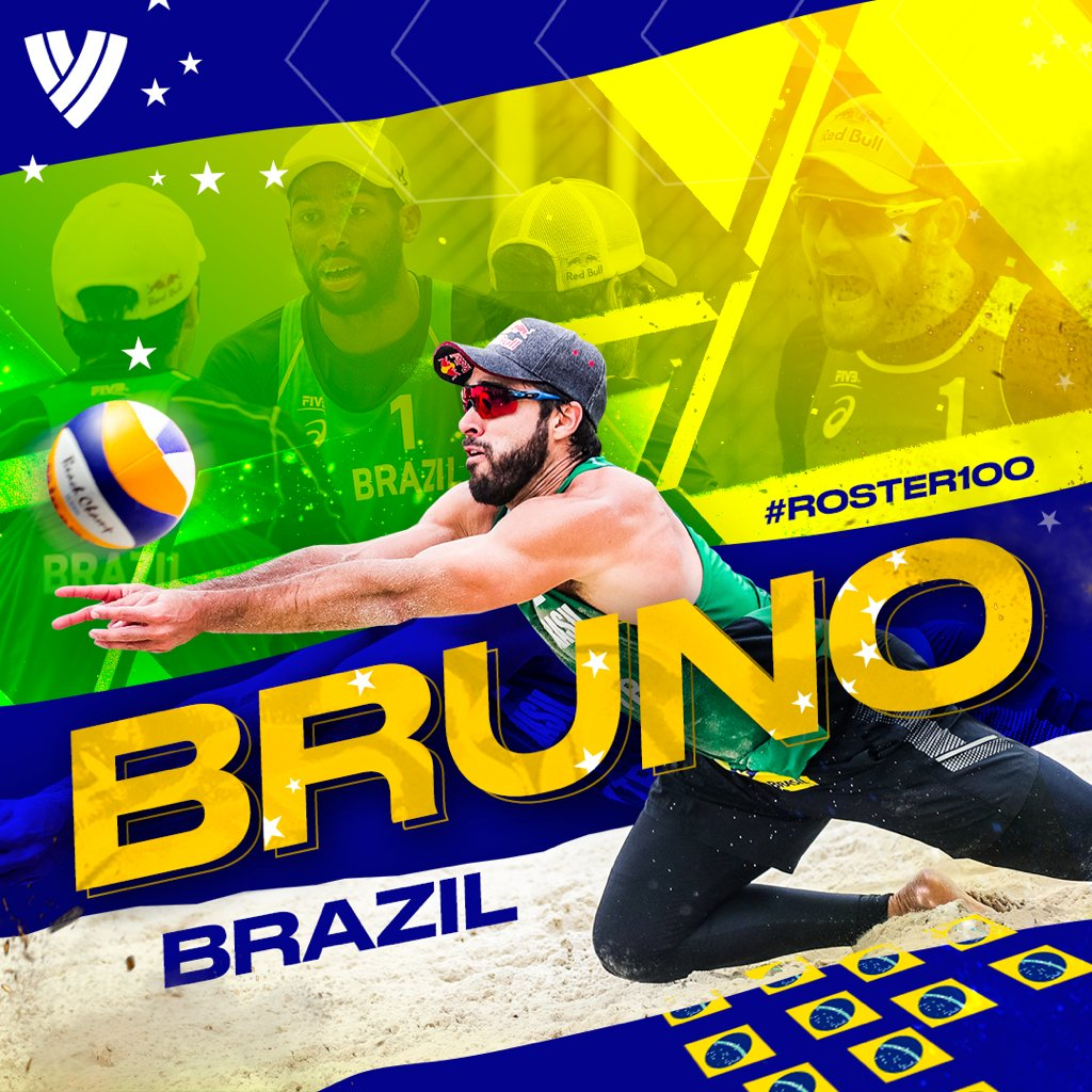 #ROSTER100 PRESENTS: Olympic Champion Bruno Always Ready For The Next Challenge.  FULL STORY: https://t.co/kv0BtIkWL9  @FIVBBeach 🇧🇷 #BeachVolleyball https://t.co/ntlKy2dGas