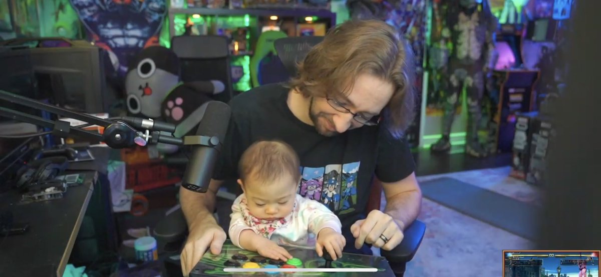 Hey @VictrixPro have you guys thought about making fight sticks for babies with cool lights and sounds? For the next generation of fighting game players?
