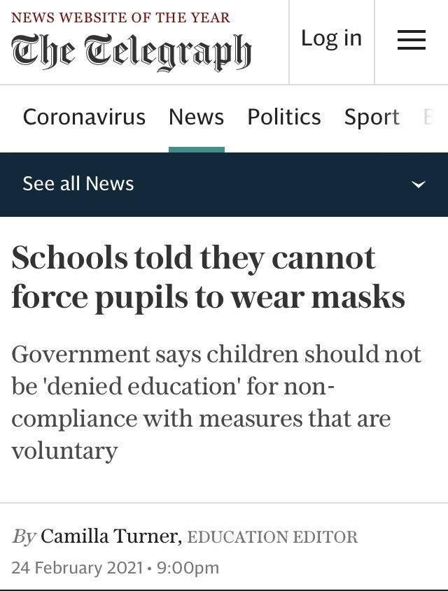 #UK #Kids #MaskMandates #Covid19