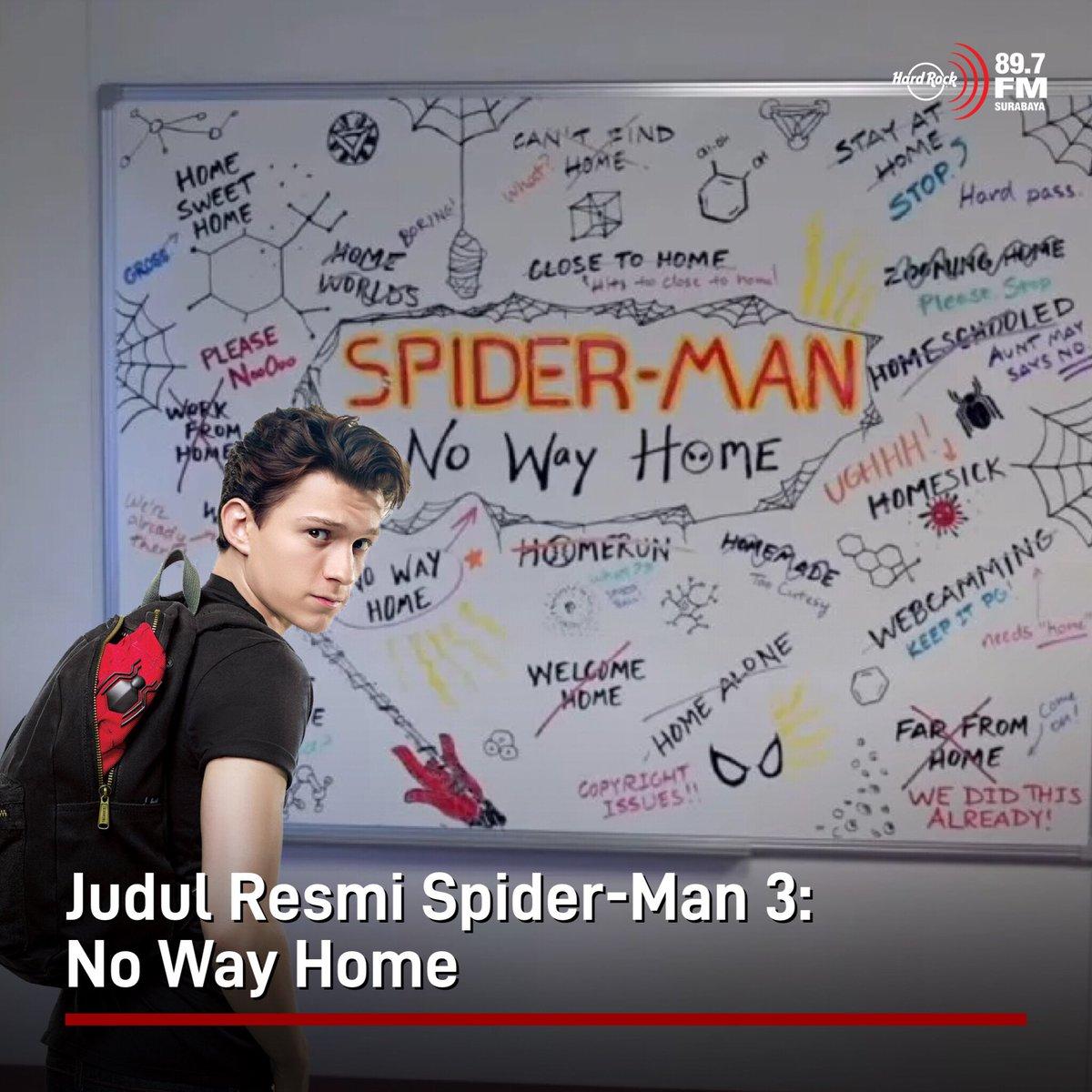 #HRFMNews Judul resmi film Spider-Man 3 sudah diumumkan, yaitu Spider-Man: No Way Home. Film ini dijadwalkan tayang Natal tahun ini.