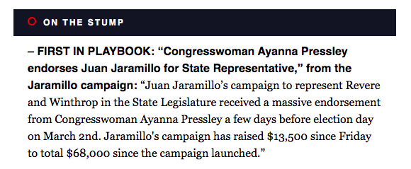 Its always a good idea to stick with the candidate that Ayanna Pressley endorses over the candidate that Joe Kennedy endorses