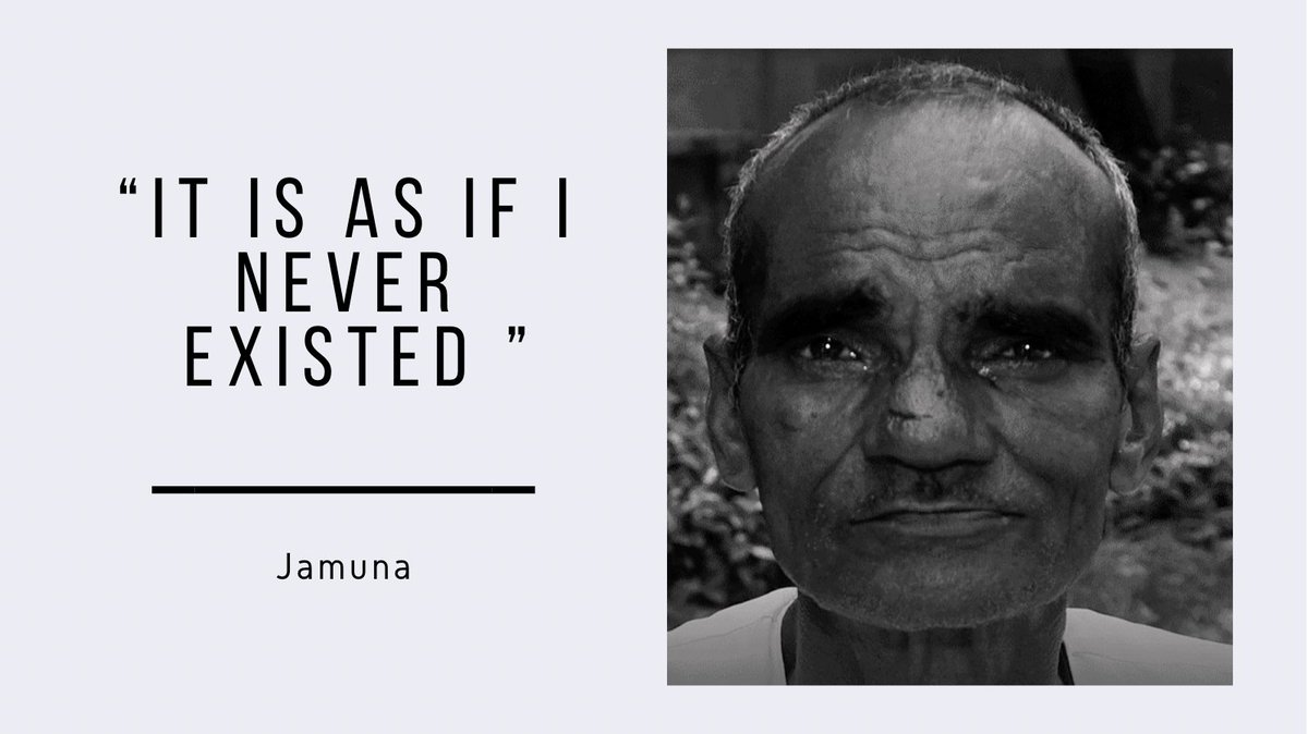 Jamuna, a 65 year old man found out that his brothers had struck his name off the family register and therefore, he was declared 'dead' on papers.  Read about how he is fighting to stay 'alive' :  #Kaagaz #CommonMan #MritakSangh