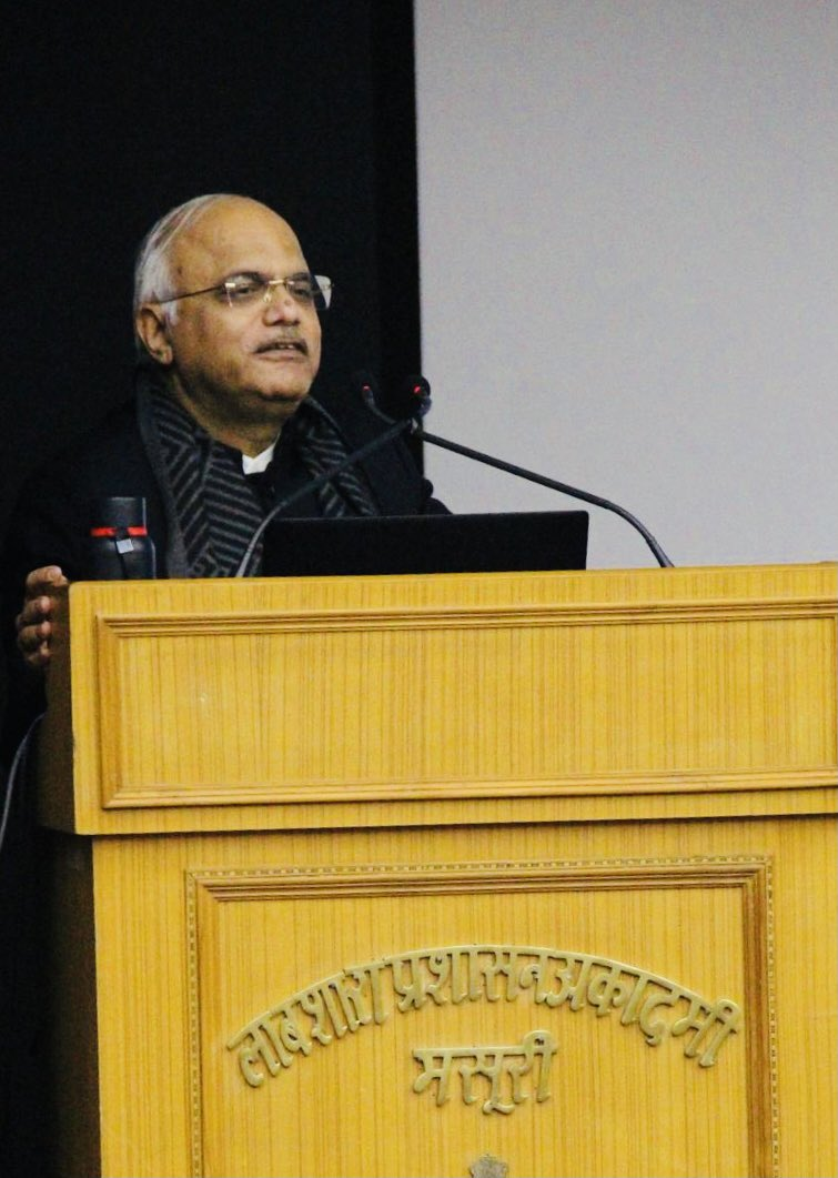 """Delivered lecture on 'Leveraging India's Soft Power' at the Lal Bahadur Shatri National Academy at Masuri! """"Undoing motivated misperceptions abroad about India is every Indian's job!It can't be left only to the Govt""""! Also released a number of The Administrator Journal of LBSNAA!"""