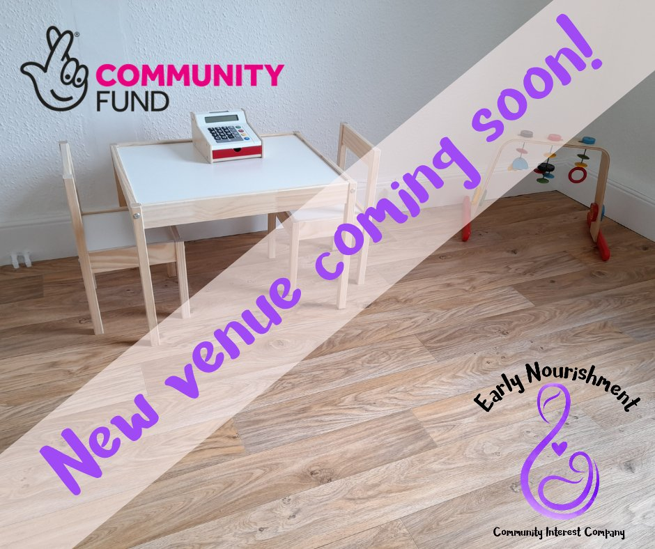 New venue coming soon 😍 @hannahbfc may be able to run some face to face 1:1 sessions for #breastfeedingsupport from next month then our drop-in's will return on April 12th 💜