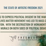 Image for the Tweet beginning: The #StateofArtisticFreedom2021 finds that efforts