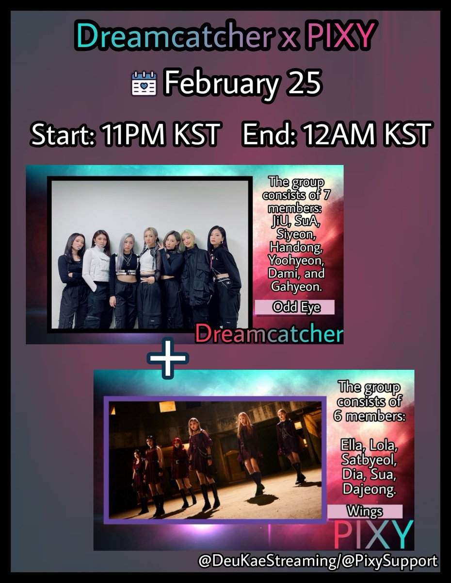 Dreamcatcher × PIXY Streaming Party ❤  Collab with @PixySupport 🥰  🎬 'Odd Eye' MV:   🎬 'Wings' MV:   Comment your screenshots streaming both MV's tagging Dreamcatcher and PIXY  #픽시 #드림캐쳐 @hf_dreamcatcher @official_pixy