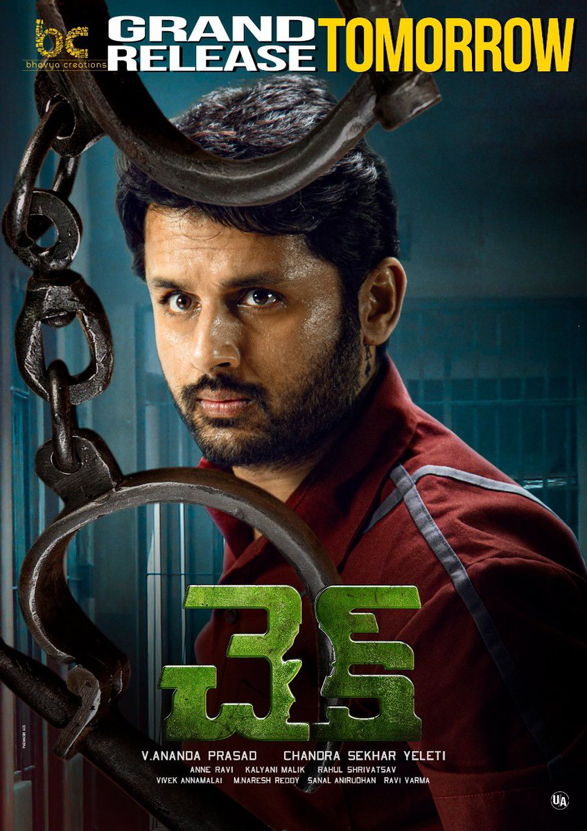 Always been a fan of Chandu @yeletics s unique themes and storytelling. #Check looks super interesting. Best wishes to Chandu, @actor_nithiin and the whole team for the release tomorrow