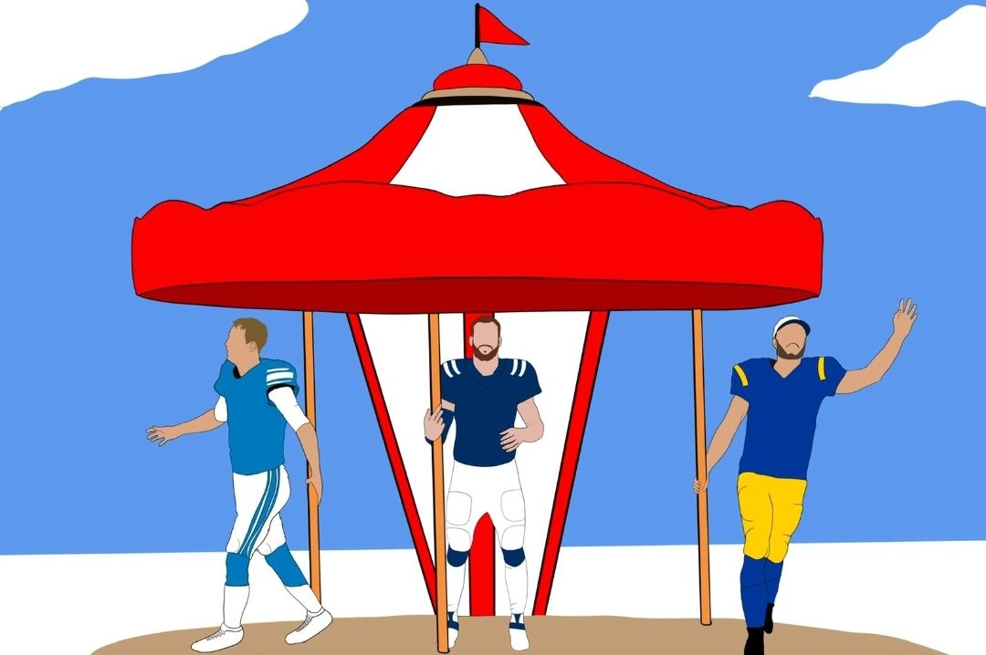 Get caught up with our latest pod as we touch on the 2021 QB merry-go-round!  Design by @ApparelGoatee