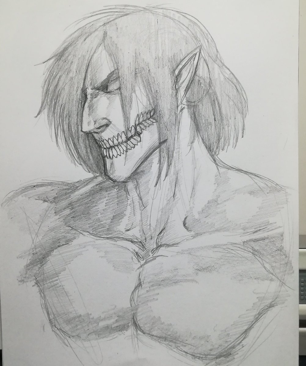 Titan Bribón y Armin Meiwes #SKETCH #drawing #Pencildrawing #anime #manga #ShingekiNoKyojin