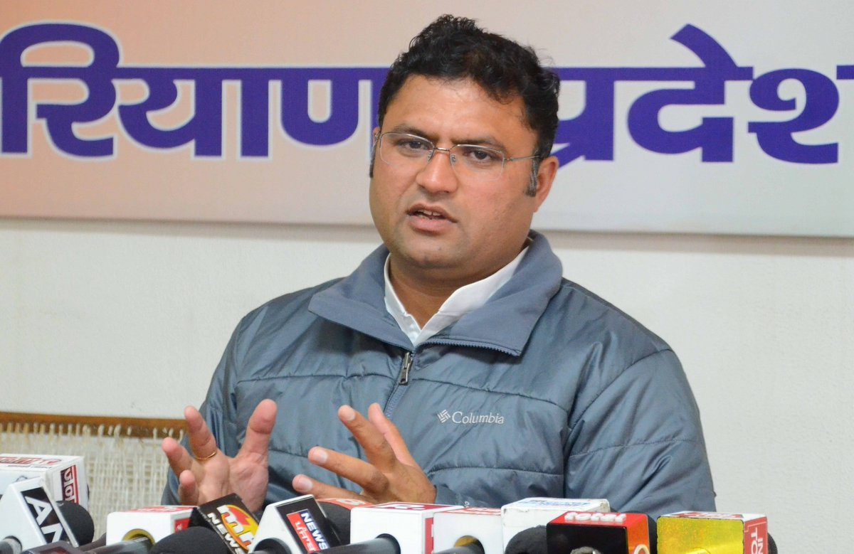 Former #Haryana Congress chief Ashok Tanwar launched his #ApnaBharatMorcha in New Delhi on Thursday along with his supporters. He was joined by former #Tripura Congress chief Pradyut Barman who had also quit the #Congress (@INCIndia).  Photo: IANS (File)