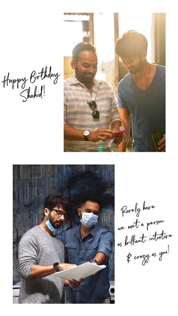 Happy Birthday @shahidkapoor! Have a rocking year... and decade!!