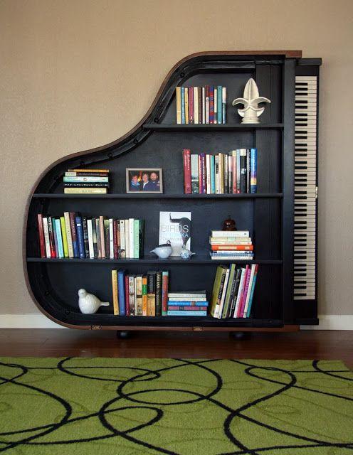 Love this #piano bookshelf - genius idea! https://t.co/cPLpquQLxy