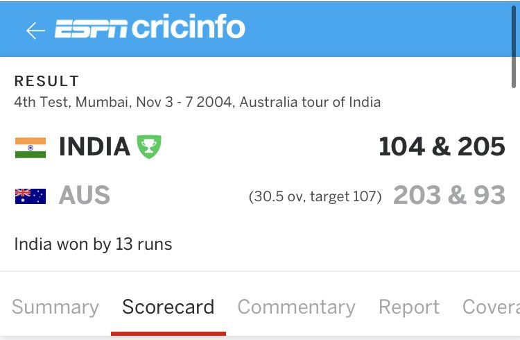 This #INDvENG #PinkBallTest is going like the below epic #INDvAUS 2004 Wankhede Test match. There Michael Clarke picked up 6 wkts for 9 runs and here Joe Root has picked up 4 wkts for 5 runs. @MClarke23 @kartikmurali @root66 @BCCI @englandcricket PC @ESPNcricinfo