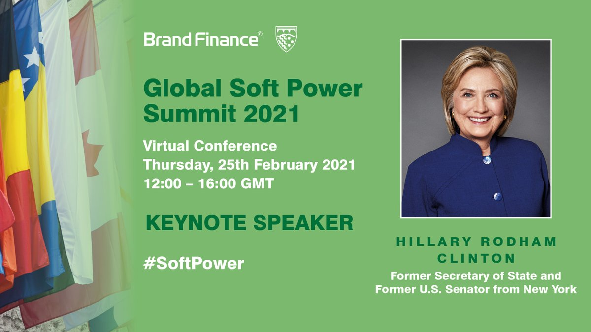 test Twitter Media - Looking forward to tuning in to @BrandFinance #SoftPower summit 👇with a stellar line-up including Former US Secretary of State, Senator @HillaryClinton. What impact will #Covid19 have on #SoftPower rankings - be prepared for some surprises!  Register now: https://t.co/LSSnZkbTdU https://t.co/DBSNeF5WnQ