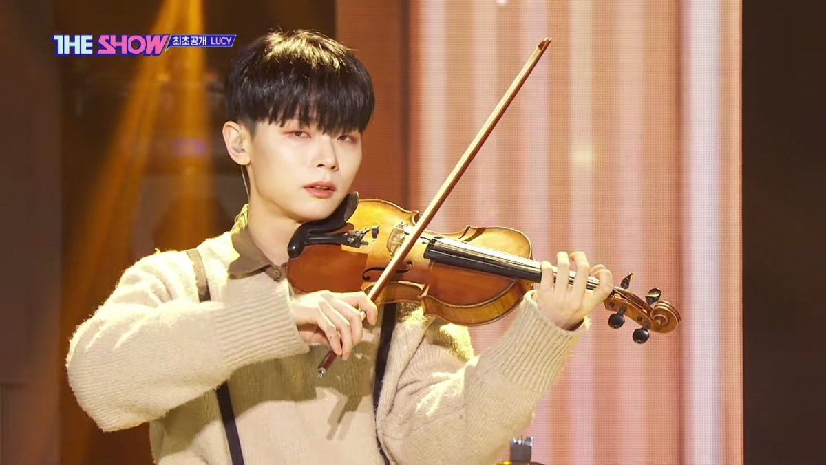 This is Shin Yechan from LUCY, the guy that played the violin in the dance challenge.  STREAM HERO (and more of their music) TO SEE THIS BEAUTIFUL SPECIMEN PLAYING THE VIOLIN PASSIONATELY💕  #루시 #신예찬 #Hero #INSIDE