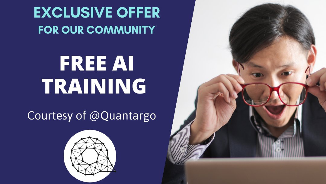 We have great #news for you!  After our last #brAInstormTalk with @JambaAll our community will have free access to the @quantargo platform for #AI #trainingtools. This means YOU can start working towards developing your #AI skills #today.  Learn more at