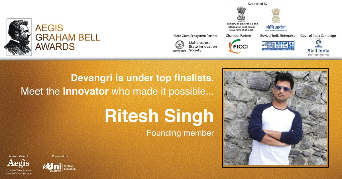 We are proud to announce that @TheDevnagri  has been selected as one of the to finalist under Innovation in Artificial Intelligence. Meet the innovator Nitu Kumari, Masud Ashfaq, Ritesh Singh, Tarun Manik who made it possible. #devnagri #innovation #AI #artificialintelligence