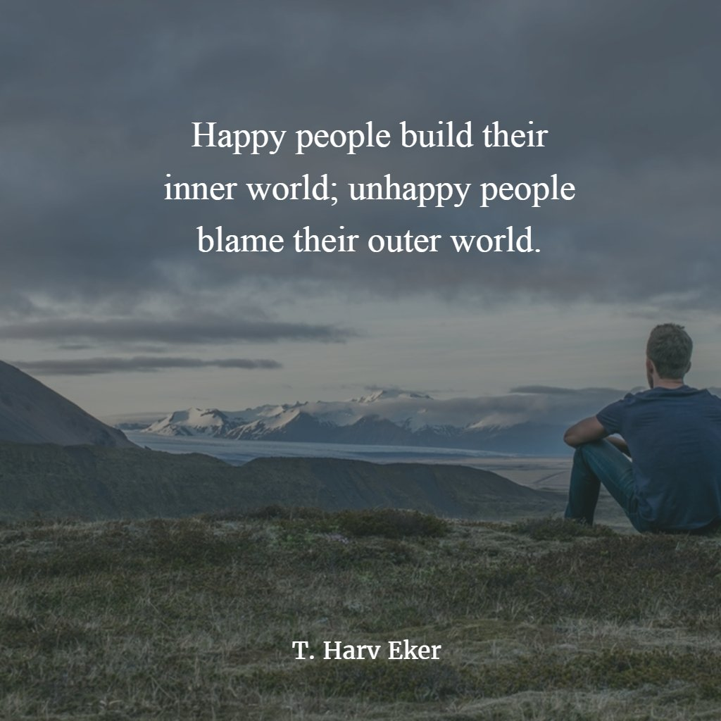 Happy people build their inner world. #thursdaymorning #ThursdayThoughts #ThursdayMotivation #quotes #quotesdaily #quotestoliveby #quotesaboutlife #MotivationalQuotes #InspirationalQuotes #ernest6words #sixwordstories #sixwordquotes