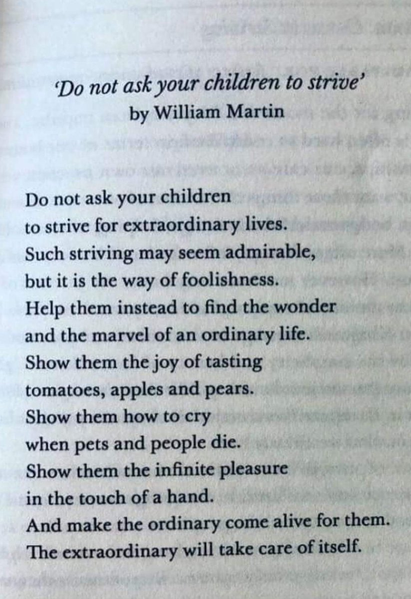 make the ordinary come alive for them, and the extraordinary will take care of itself . Beautiful poem. Must read ✌️🌿 #thursdayvibes