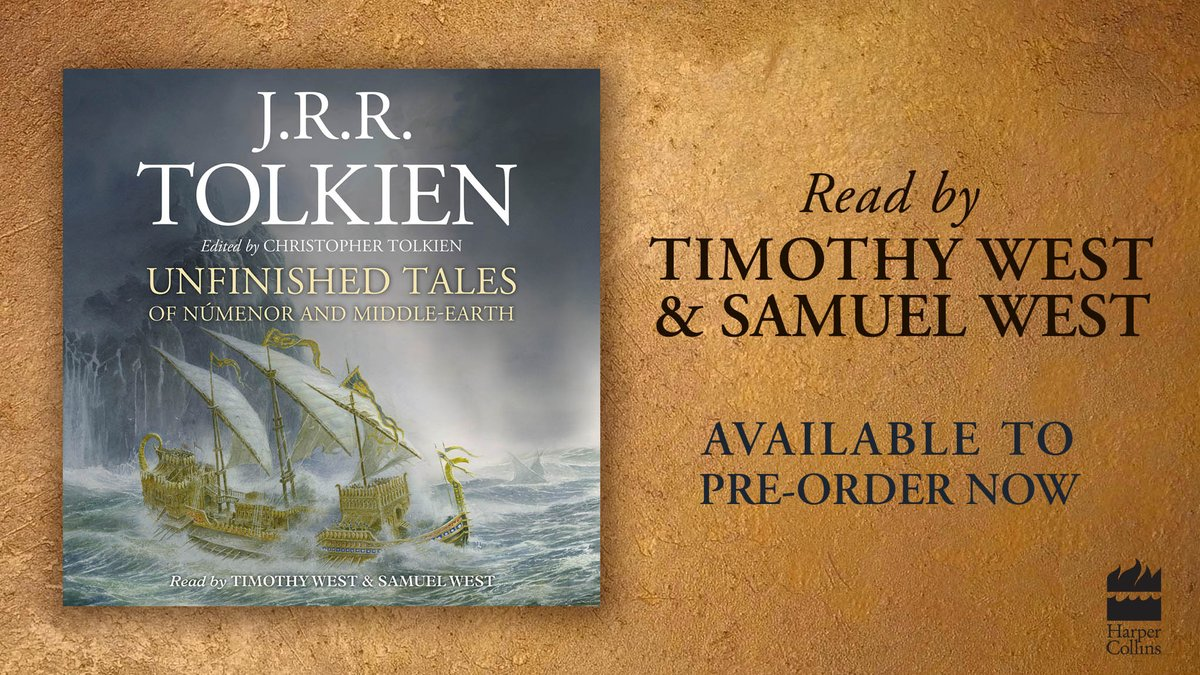 Exciting news for Tolkien fans! Unfinished Tales arrives in audio for the first time this May.  This pivotal Middle-earth book will be brought to life by father and son Timothy West and Samuel West (@exitthelemming).  Pre-order the audiobook now: