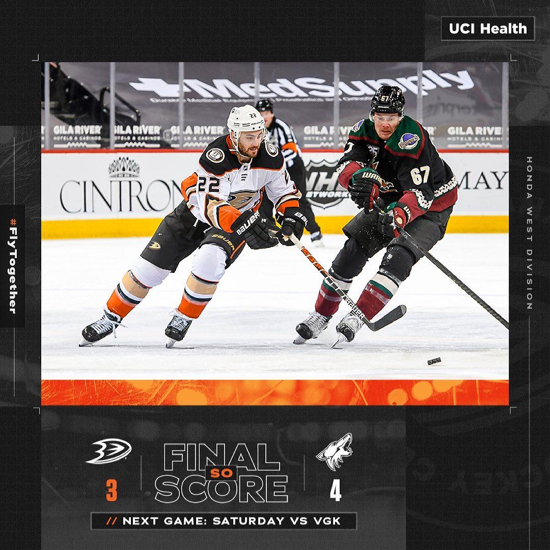 #Anaheim #Ducks: Final in Arizona. ##FLYTOGETHER...       #AnaheimDucks #California #Hockey #IceHockey #NationalHockeyLeague #Nhl #NHLWesternConference #NHLWesternConferencePacificDivision
