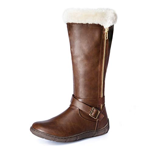 2 PENNYSUE Women's Winter Fur Lined Warm Snow Knee High Boots Wide Calf